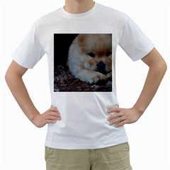 Puppy Chow Chow Men s T Shirt (white) (two Sided)