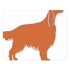 Irish Setter Silo Color Double Sided Flano Blanket (large)
