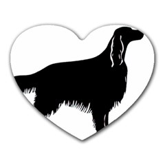 Irish Setter Silo Heart Mousepads