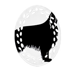 Irish Setter Silo Ornament (oval Filigree)