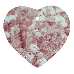 Pink Colored Flowers Ornament (heart)
