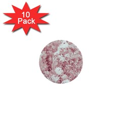 Pink Colored Flowers 1  Mini Buttons (10 Pack)