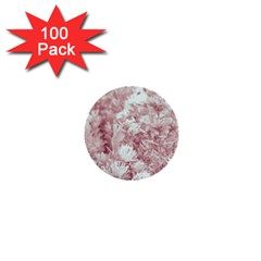 Pink Colored Flowers 1  Mini Buttons (100 Pack)