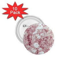 Pink Colored Flowers 1 75  Buttons (10 Pack)