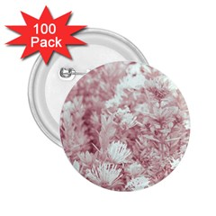 Pink Colored Flowers 2 25  Buttons (100 Pack)
