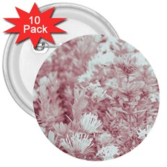 Pink Colored Flowers 3  Buttons (10 Pack)