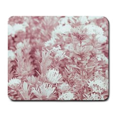 Pink Colored Flowers Large Mousepads