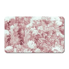 Pink Colored Flowers Magnet (rectangular)