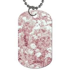 Pink Colored Flowers Dog Tag (two Sides)