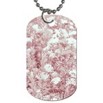 Pink Colored Flowers Dog Tag (Two Sides) Back