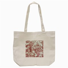 Pink Colored Flowers Tote Bag (cream)