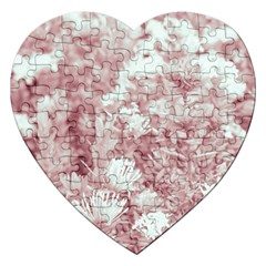 Pink Colored Flowers Jigsaw Puzzle (heart)