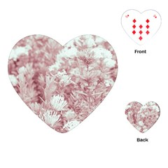 Pink Colored Flowers Playing Cards (heart)