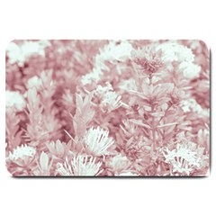 Pink Colored Flowers Large Doormat