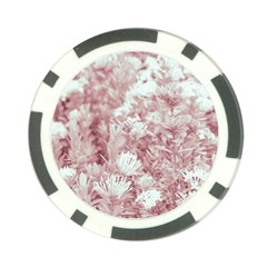 Pink Colored Flowers Poker Chip Card Guard