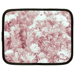 Pink Colored Flowers Netbook Case (large)