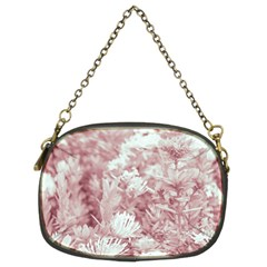Pink Colored Flowers Chain Purses (two Sides)