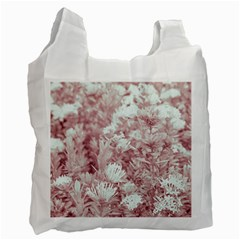 Pink Colored Flowers Recycle Bag (two Side)