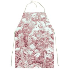 Pink Colored Flowers Full Print Aprons