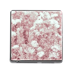 Pink Colored Flowers Memory Card Reader (square)