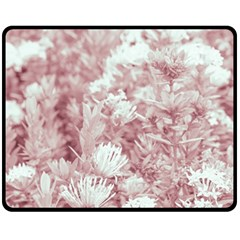 Pink Colored Flowers Fleece Blanket (medium)