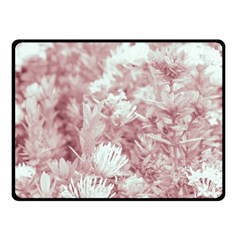 Pink Colored Flowers Fleece Blanket (small)