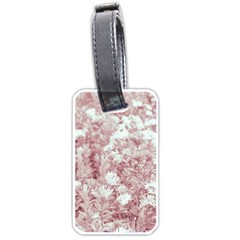 Pink Colored Flowers Luggage Tags (one Side)