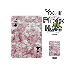 Pink Colored Flowers Playing Cards 54 (mini)