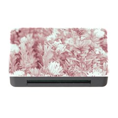 Pink Colored Flowers Memory Card Reader With Cf