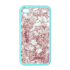 Pink Colored Flowers Apple Iphone 4 Case (color)