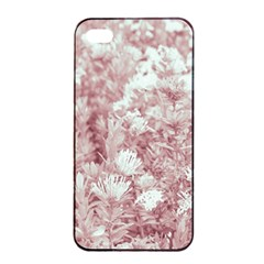Pink Colored Flowers Apple Iphone 4/4s Seamless Case (black)