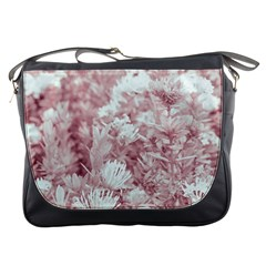 Pink Colored Flowers Messenger Bags