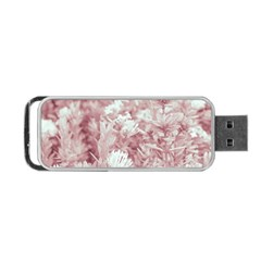 Pink Colored Flowers Portable Usb Flash (two Sides)