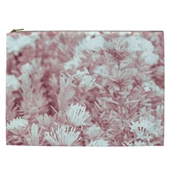 Pink Colored Flowers Cosmetic Bag (xxl)