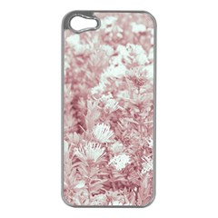 Pink Colored Flowers Apple Iphone 5 Case (silver)