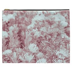 Pink Colored Flowers Cosmetic Bag (xxxl)