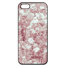 Pink Colored Flowers Apple Iphone 5 Seamless Case (black)