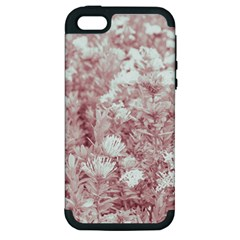 Pink Colored Flowers Apple Iphone 5 Hardshell Case (pc+silicone)