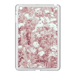 Pink Colored Flowers Apple Ipad Mini Case (white)