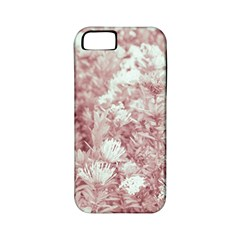 Pink Colored Flowers Apple Iphone 5 Classic Hardshell Case (pc+silicone)