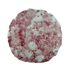 Pink Colored Flowers Standard 15  Premium Round Cushions