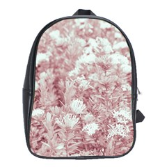 Pink Colored Flowers School Bag (xl)