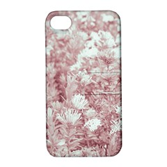 Pink Colored Flowers Apple Iphone 4/4s Hardshell Case With Stand