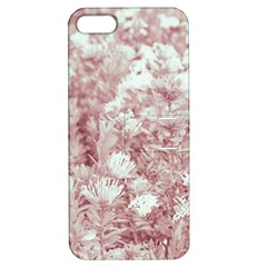 Pink Colored Flowers Apple Iphone 5 Hardshell Case With Stand
