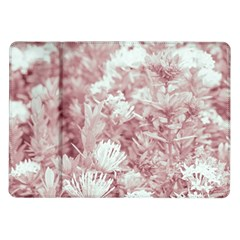 Pink Colored Flowers Samsung Galaxy Tab 10 1  P7500 Flip Case