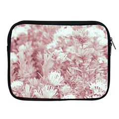 Pink Colored Flowers Apple Ipad 2/3/4 Zipper Cases