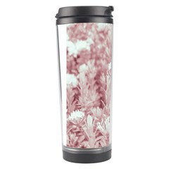 Pink Colored Flowers Travel Tumbler