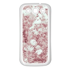 Pink Colored Flowers Samsung Galaxy S3 Back Case (white)