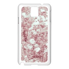 Pink Colored Flowers Samsung Galaxy Note 3 N9005 Case (white)