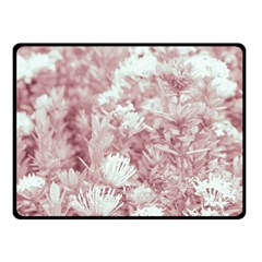 Pink Colored Flowers Double Sided Fleece Blanket (small)